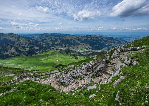 Schwarzsee vanaf de Kaiseregg in Zwitserland