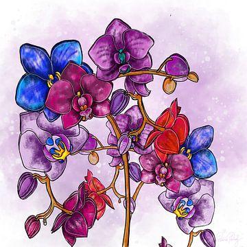 Bloemmotief - Orchidee van Patricia Piotrak
