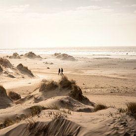 Duinen en strand van Rømø in Denemarken van Claire Droppert