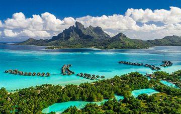 Bora Bora Resort Luchtfoto sur Ralf van de Veerdonk