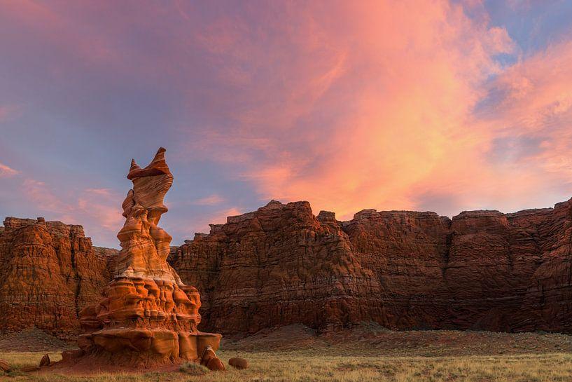 Zonsondergang in de Painted Desert, Arizona van Henk Meijer Photography