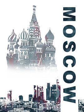 Moskau von Printed Artings