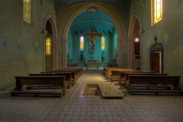 verlassene blaue Kirche von Kristof Ven