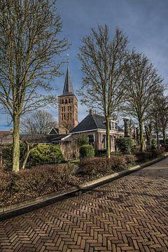 Blick auf die Kirche des friesischen Dorfes Beetgum von Harrie Muis