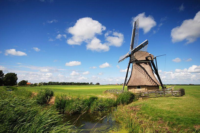 Molen in Heidenskip (Friesland) van Tjitte Jan Hogeterp