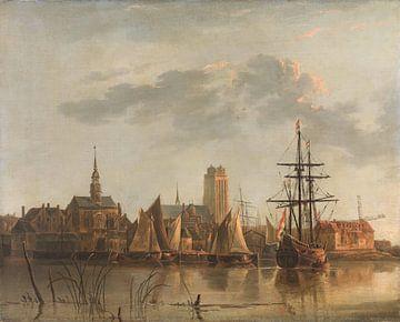 Ansicht von Dordrecht bei Sonnenuntergang, Aelbert Cuyp von Meesterlijcke Meesters
