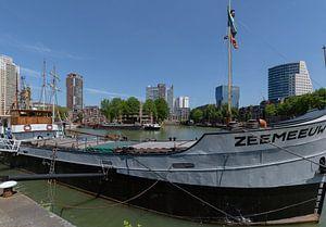 Rotterdam centrum vanaf het Maritiem Museum