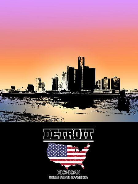 Detroit van Printed Artings