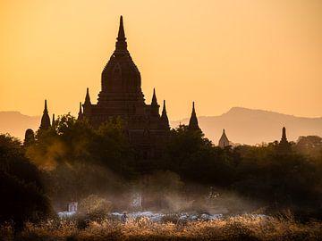 Myanmar - Bagan - Een herder voor een pagode