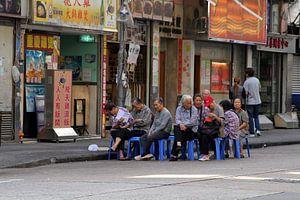 Stoelendans met bejaarden, Hongkong