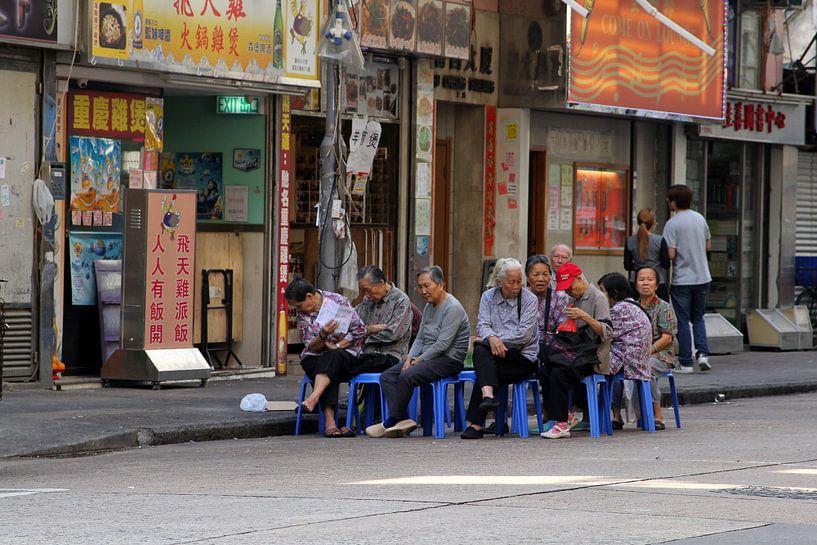 Straatfotografie Hongkong van Inge Hogenbijl