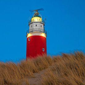 Vuurtoren van Texel in het blauwe uur / Texel Lighthouse in the blue hour von Justin Sinner Pictures ( Fotograaf op Texel)
