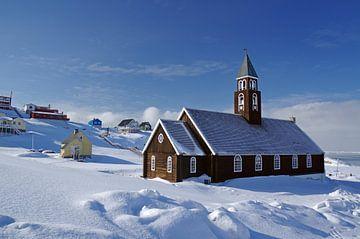 De Sionkerk in Ilulissat van Reinhard  Pantke