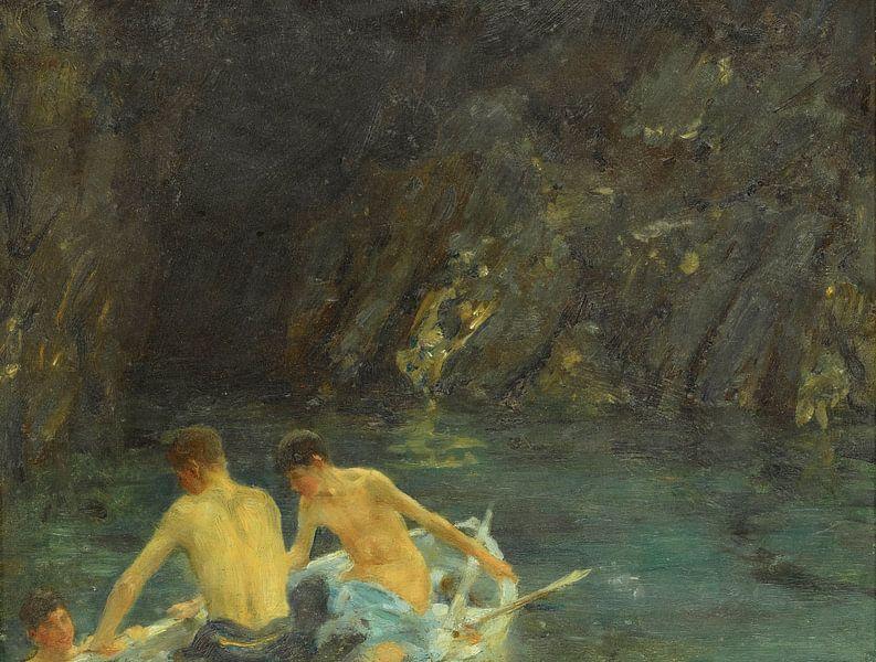 La caverne, Henry Scott Tuke sur Meesterlijcke Meesters