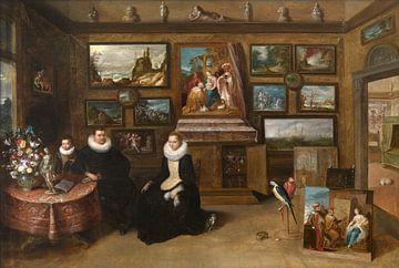 Porträt einer Familie in einer Galerie, Frans Francken (II)