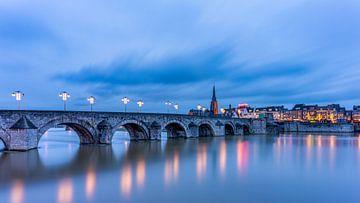 St.Servaos Brögk - Mestreech - Sint Servaasbrug, Maastricht in het blauwe uur