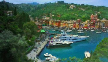 Portofino Italien von Dirk van der Ven