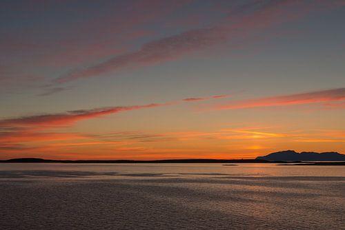 gekleurde zonsondergang van