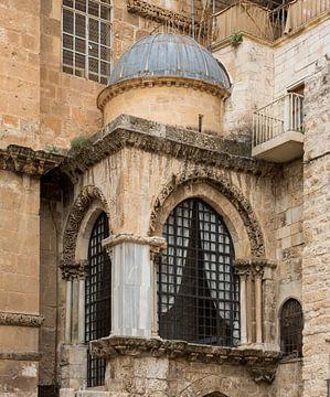 Koepel op de Heilige Grafkerk in Jerusalem, Israel van Joost Adriaanse