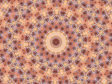 Mandalalala.... (Rosette oder Mandala in Aprikose und alter Rose) von Caroline Lichthart
