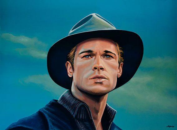 Brad Pitt Schilderij van Paul Meijering