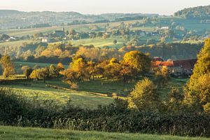 Zonsopkomst  boven de  Zuid-Limburgse heuvels