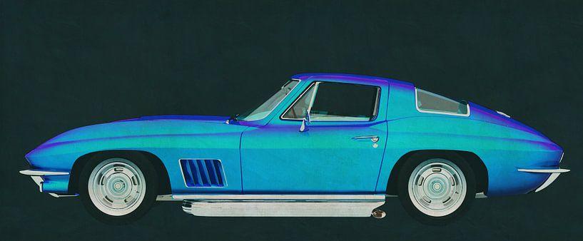 Chevrolette Corvette Stingray 427 1967 van Jan Keteleer