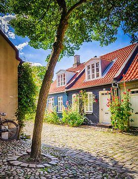 Boom in het idyllische straatje Møllestien van Tony Buijse