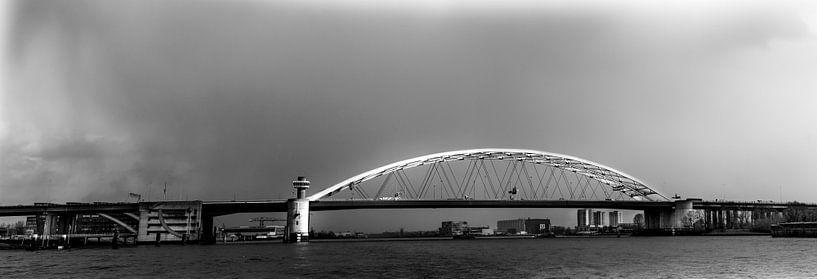 Van Brienenoordbrug Rotterdam (panorama) van Prachtig Rotterdam