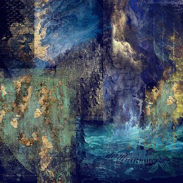 Blaue Fantasie von Carla van Zomeren