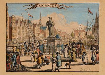Rotterdam, 1695, de Markt van Atelier Liesjes