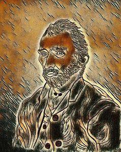 Vincent van Goghs Zeichnung überarbeitet