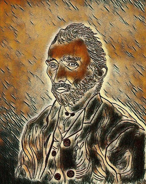 Vincent van Goghs Zeichnung überarbeitet von Jose Lok