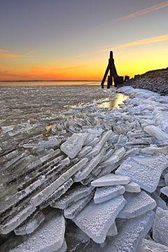 Lauwersmeer Winter, Niederlande von Peter Bolman