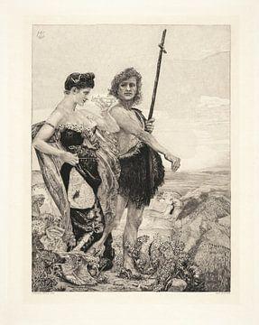 Versuchung - Max Klinger, 1898 von Atelier Liesjes