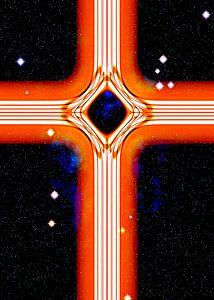 Energetisches Kreuz in Orange
