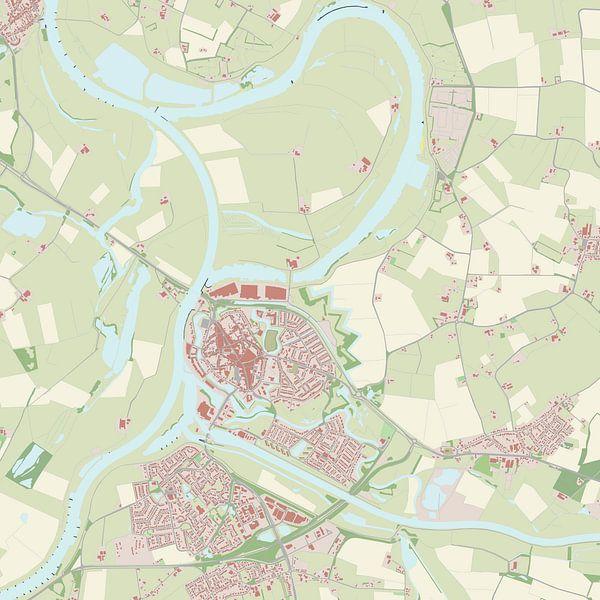 Kaart vanDoesburg van Rebel Ontwerp