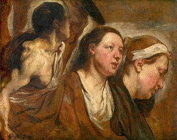 Zwei Frauenköpfe und der Torso eines Kriegers, Jacob Jordaens