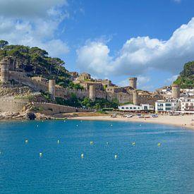 Tossa de Mar an der Costa Brava,Spanien von Peter Eckert