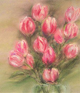 Rosafarbene Tulpen von Ineke de Rijk