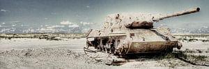 Tank op het strand