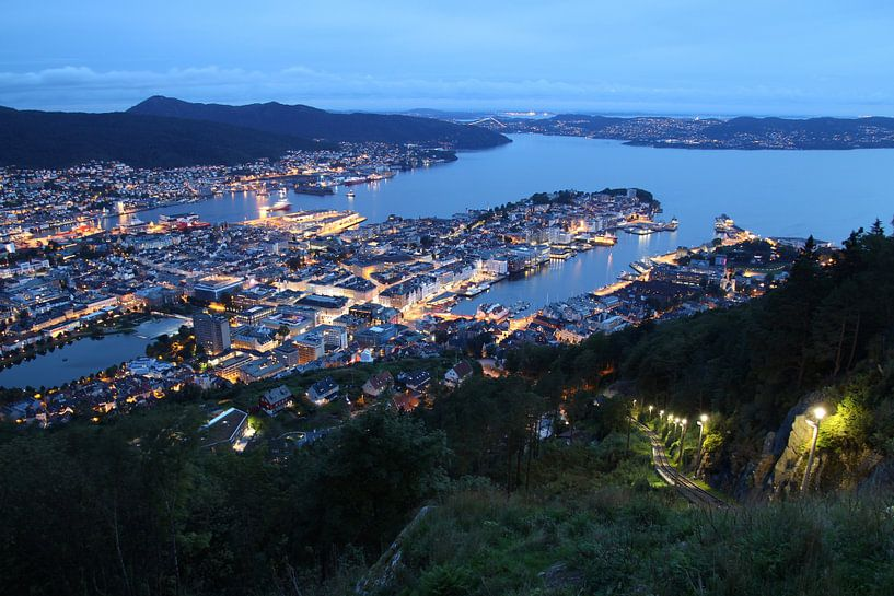 Blick auf Bergen, Norwegen von Sven Zoeteman