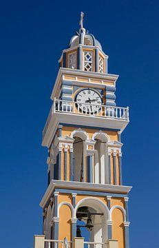 Kirchturm auf Santorin, Griechenland von Adelheid Smitt