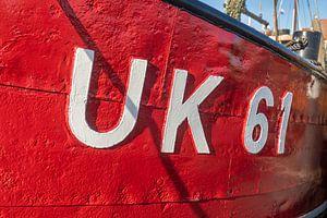 Bateau de pêche rouge Urk