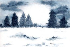 Winterlandschap van Sandra Steinke