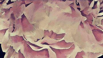 Pétales d'une pivoine - Peinture