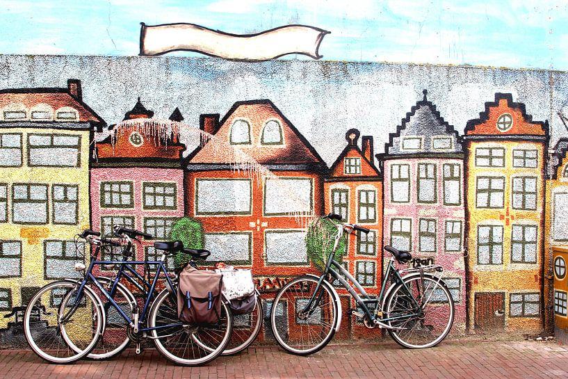 Straatkunst Leeuwarden van Inge Hogenbijl