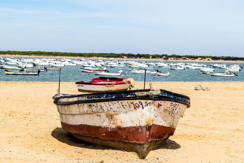 Boot op het strand van Hans Verhulst