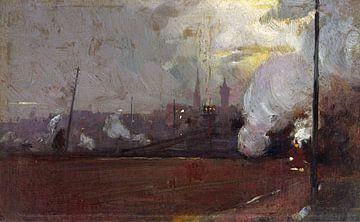 Tom Roberts, Avondtrein naar Hawthorn - 1889 van Atelier Liesjes