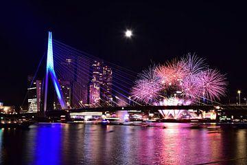 Feuerwerk in Rotterdam von Denise van Gerven
